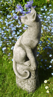 Curious Bast cat statue for the garden