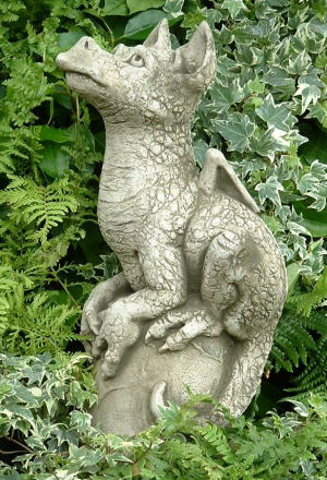 Snap cute dragon pup statue for the garden